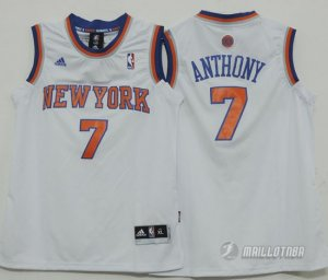Maillot Enfant de Blanc Anthony New York Knicks Revolution 30