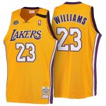 Maillot Retro 1999-00 Lakers Williams 23 Jaune