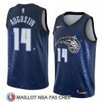 Maillot Orlando Magic D.j. Augustin No 14 Ciudad 2018 Bleu