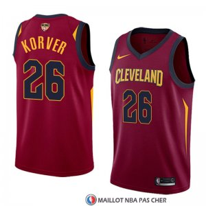 Maillot Cleveland Cavaliers Kyle Korver Finals Bound 26 Icon 2017-18 Rouge