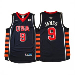 Maillot USA 2004 James 9 Noir