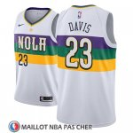 Maillot New Orleans Pelicans Anthony Davis No 23 Ciudad 2018-19 Blanc