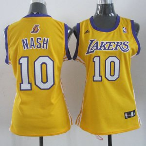 Maillot Femme de Nash Los Angeles Lakers #10 Jaune