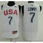 Maillot USA Dream 12 Teams Lowry #7 Blanc