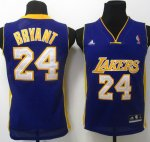 Maillot Enfant de Bryant Los Angeles Lakers #24 Pourpre
