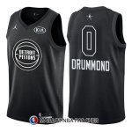 Maillot All Star 2018 Detroit Pistons Andre Drummond 0 Noir