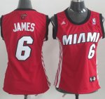 Maillot Femme de James Miami Heat #6 Rouge