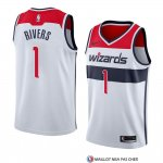 Maillot Washington Wizards Austin Rivers Association 2018 Blanc2