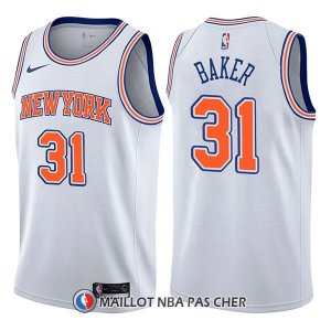 Maillot New York Knicks Ron Baker Statement 31 2017-18 Blanc