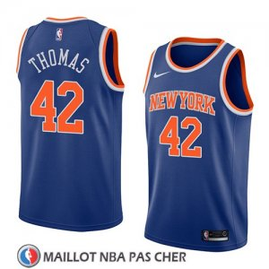 Maillot New York Knicks Lance Thomas No 42 Icon 2018 Bleu