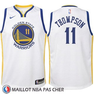 Maillot Enfant Golden State Warriors Klay Thompson No 11 2017-18 Blanc