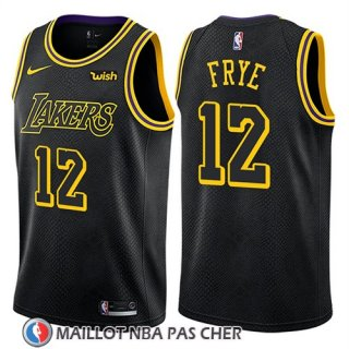 Maillot Los Angeles Lakers Channing Frye Ciudad 2018 Noir