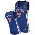 Maillot Femme de Anthony New York Knicks #7 Bleu