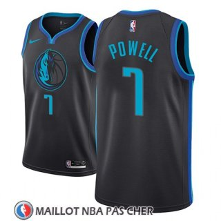 Maillot Dallas Mavericks Dwight Powell Ciudad 2018-19 Bleu