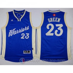 Maillot Golden State Warriors Green No?l #23 Bleu