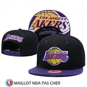 Casquette Los Angeles Lakers 9FIFTY Snapback Noir Volet