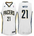 Maillot Blanc West Indiana Pacers Revolution 30
