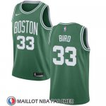 Maillot Enfant Boston Celtics Larry Bird No 33 Ciudad 2018 Vert