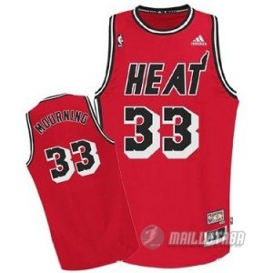 Maillot Miami Heat retro Mourning #33 Rouge