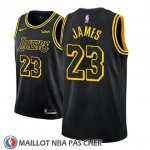 Maillot Enfant Los Angeles Lakers Lebron James No 23 Ciudad 2017-18 Noir