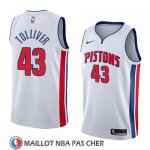 Maillot Detroit Pistons Anthony Tolliver No 43 Association 2018 Blanc