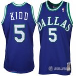 Maillot Dallas Mavericks retro Kidd #5 Bleu