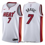 Maillot Authentique Miami Heat Dragic 2017-18 7 Blanc