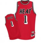 Maillot retro de Rouge Bosh Miami Heat Revolution 30