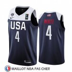 Maillot USA Derrick Blanc 2019 FIBA Basketball World Cup Bleu