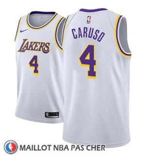 Maillot Los Angeles Lakers Alex Caruso No 4 Association 2018-19 Blanc
