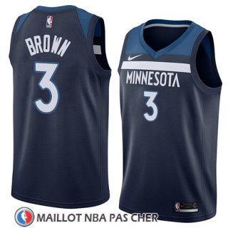 Maillot Minnesota Timberwolves Anthony Brown No 3 Icon 2018 Bleu