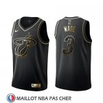 Maillot Golden Edition Miami Heat Dwyane Wade Noir