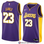 Maillot Los Angeles Lakers Lebron James 23 Statement 2017-18 Volet