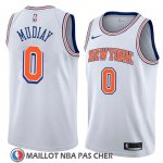 Maillot New York Knicks Emmanuel Mudiay No 0 Statement 2018 Blanc