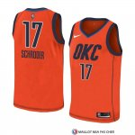Maillot Oklahoma City Thunder Dennis Schroder Earned 2018-19 Orange