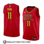 Maillot Hawks Trae Young 11 Statement 2017-18 Rouge