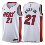 Maillot Authentique Miami Heat Whiteside 2017-18 21 Blanc