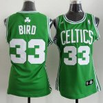 Maillot Femme de Bird Boston Celtics #33 Vert