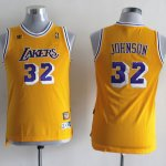 Maillot Enfant Jaune Johnson Los Angeles Lakers Revolution 30