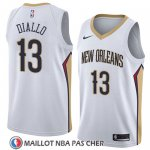 Maillot New Orleans Pelicans Cheick Diallo No 13 Association 2018 Blanc