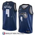 Maillot Orlando Magic Arron Afflalo No 4 Ciudad 2018 Bleu