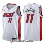 Maillot Miami Heat Dion Waiters Association 11 2017-18 Blanc