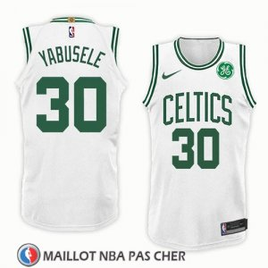 Maillot Boston Celtics Guerschon Yabusele No 30 Association 2018 Blanc