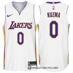 Maillot Authentique Los Angeles Lakers Kuzma 2017-18 0 Blanc