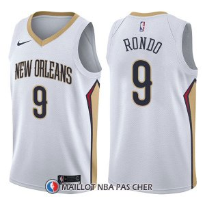Maillot New Orleans Pelicans Rajon Rondo Association 9 2017-18 Blanc
