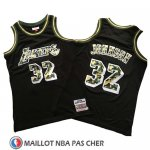 Maillot Los Angeles Lakers Magic Johnson Camouflage Noir