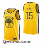 Maillot Golden State Warriors Damian Jones Earned 2018-19 Jaune