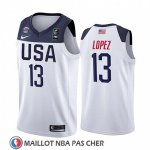Maillot USA Brook Lopez 2019 FIBA Basketball World Cup Blanc
