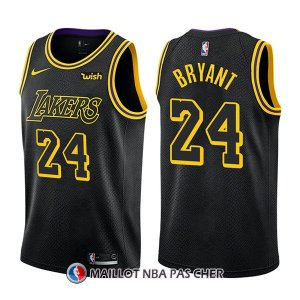 Maillot Los Angeles Lakers Bryant Ciudad 24 Noir