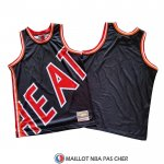 Maillot Miami Heat Mitchell & Ness Big Face Bleu